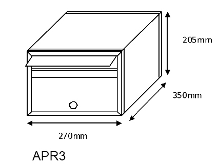 APR3 Mailsafe Mailbox diagram