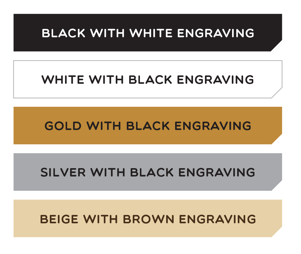 Engraved strip colour options - Mailsafe Mailboxes