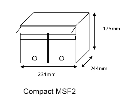 Compact MSF2 Mailsafe Mailbox diagram