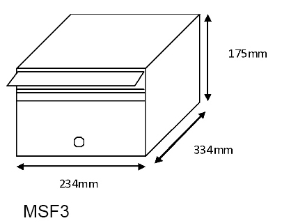 MSF3 Mailsafe Mailbox diagram