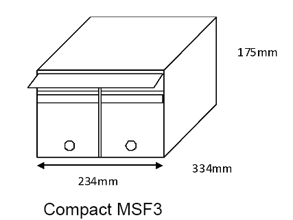 Compact MSF3 Mailsafe Mailbox diagram