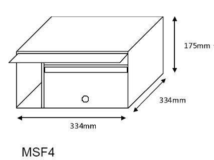 MSF4 Mailsafe Mailbox diagram